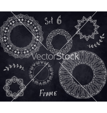 Free set hand drawn elements frame vector - vector #235307 gratis