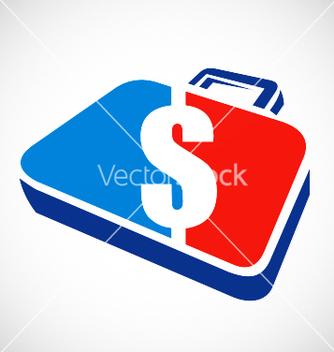 Free dollar briefcase logo vector - Free vector #235447