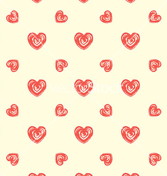 Free seamless pattern from hearts grunge hand drawn vector - Free vector #235647