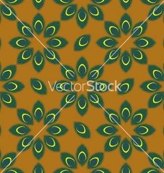 Free stylized peacock feather seamless pattern vector - Free vector #235807