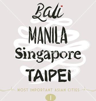 Free bali manila taipei vector - бесплатный vector #236087