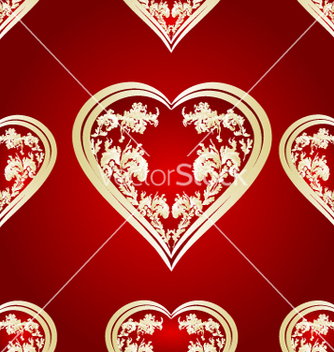 Free seamless texture heart vector - Free vector #236137