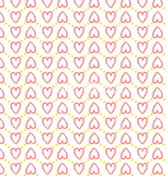 Free seamless heart pattern love vector - Free vector #236157
