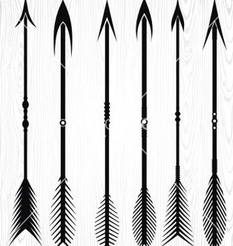 Free arrow silhouettes vector - Kostenloses vector #236247