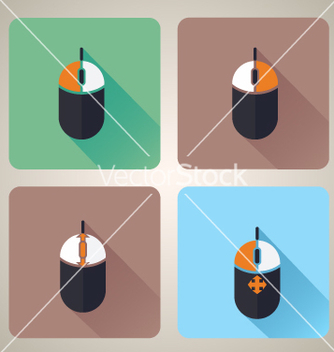 Free computer mouse icons vector - vector #236257 gratis