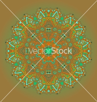 Free mandala round ornament pattern vector - Kostenloses vector #236297