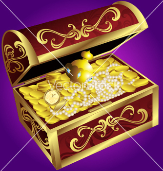 Free treasure chest vector - Kostenloses vector #236307