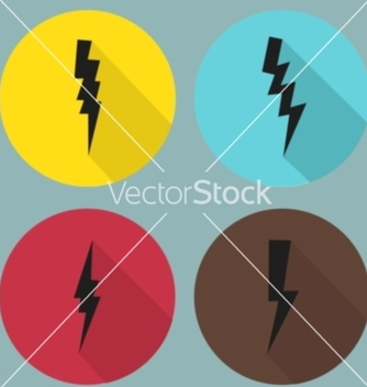 Free flat lightning symbols set vector - Free vector #236357