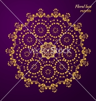 Free lacy pattern of flowers vector - vector #236437 gratis