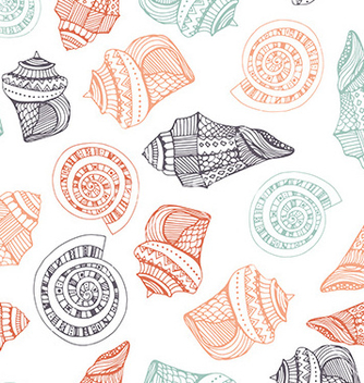 Free seashell seamless pattern vector - бесплатный vector #236467