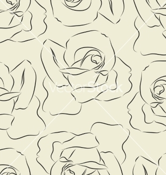 Free seamless pattern with silhouette roses vector - Kostenloses vector #236537