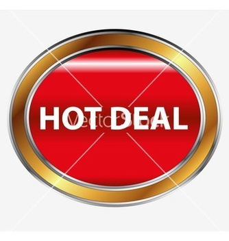 Free hot deal button vector - Kostenloses vector #236567