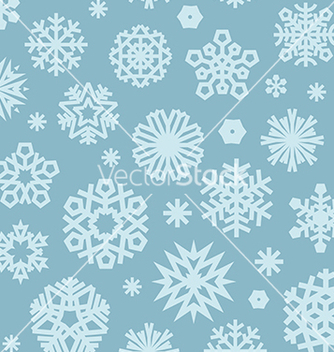 Free christmas seamless pattern with snowflakes blue vector - Free vector #236607