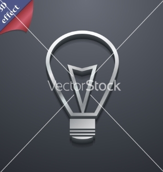 Free light lamp icon symbol 3d style trendy modern vector - Free vector #236637