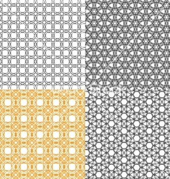 Free set of abstract vintage geometric wallpaper vector - Free vector #236727
