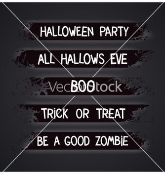 Free halloween themed graffiti ribbons vector - Free vector #236747