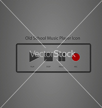 Free old school music player icon vector - Free vector #236767