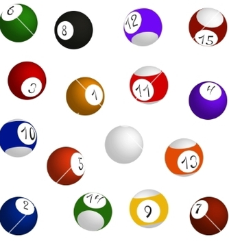 Free billiard balls set vector - Free vector #236967