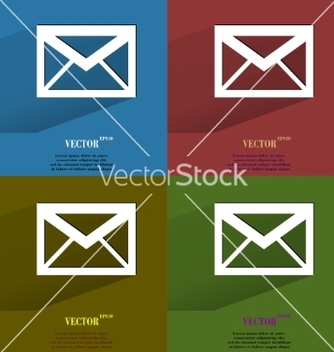 Free color set mail envelope flat modern web button vector - Free vector #237117