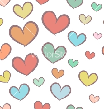 Free seamless pattern with hearts vector - Free vector #237167