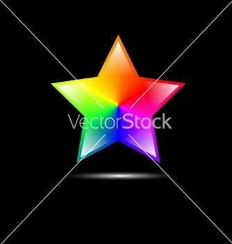 Free abstract colorful star shape vector - Free vector #237347