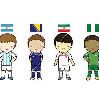 Free fifa 2014 football players group f vector - бесплатный vector #237507