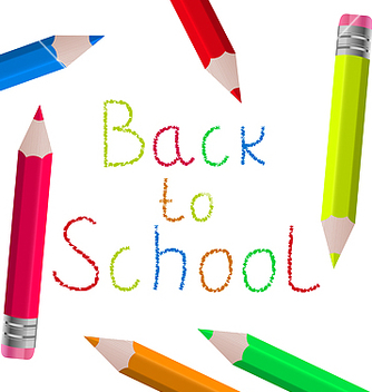 Free back to school message with pencils on white vector - Kostenloses vector #237537
