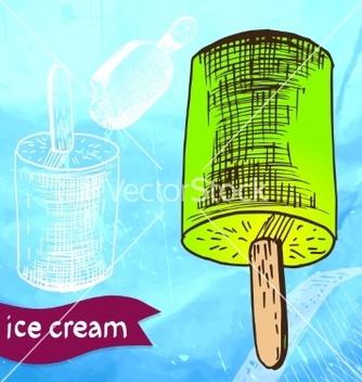 Free doodle ice cream frozen dessert style sketch vector - vector gratuit(e) #237727