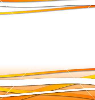 Free abstract orange design template with lines vector - Kostenloses vector #237767