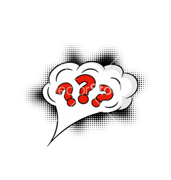 Free comic question mark vector - vector #237907 gratis