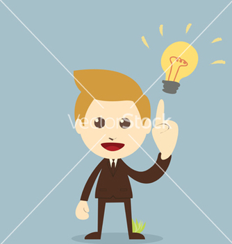 Free businessman get the idea vector - Kostenloses vector #237937