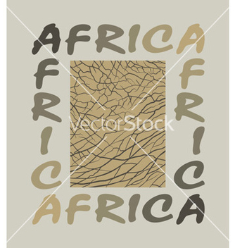 Free africa background with text and texture elephant vector - Free vector #237947