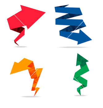 Free arrow origami colorfull vector - Free vector #237977