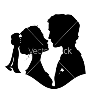 Free silhouettes of bride and groom vector - бесплатный vector #238197