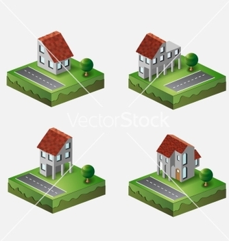Free village houses vector - Free vector #238207
