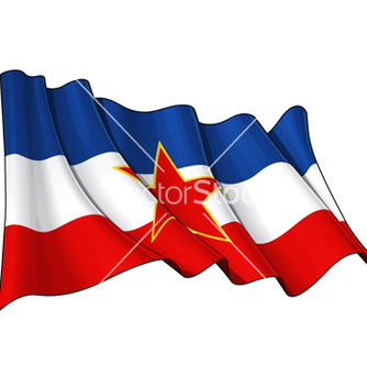 Free yugoslavian flag vector - Free vector #238367