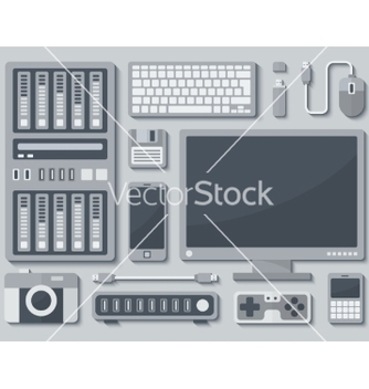 Free devices in flat style vector - Kostenloses vector #238377