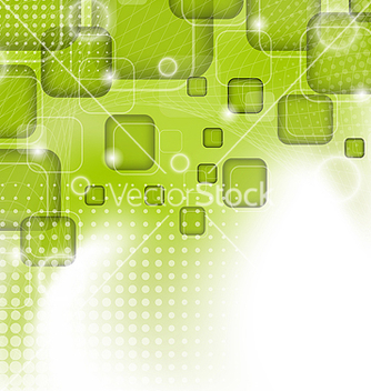 Free futuristic set squares abstract green background vector - vector gratuit #238417