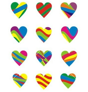 Free colorfull heart element vector - Free vector #238457