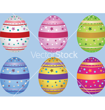 Free decorative easter eggs vector - Free vector #238477