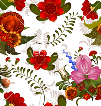 Free seamless floral pattern vector - Free vector #238567