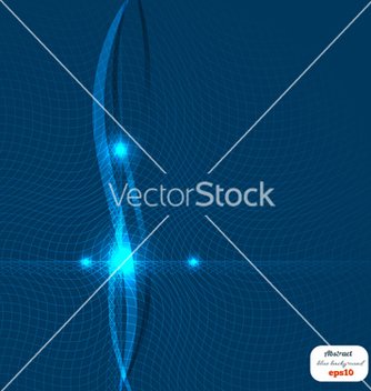 Free abstract blue background with waves of light vector - Kostenloses vector #238577