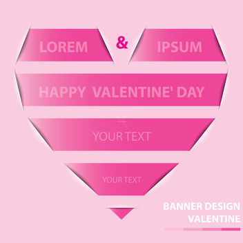 Free valentine banner design vector - Kostenloses vector #238637