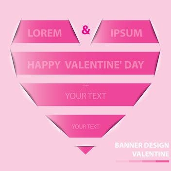 Free valentine banner design vector - vector #238637 gratis