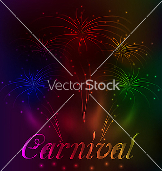 Free colorful fireworks background for carnival party vector - Free vector #238697