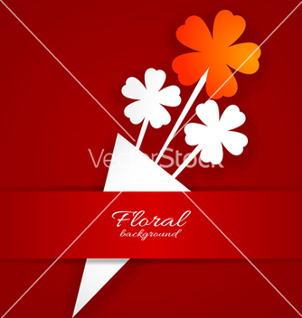 Free abstract paper flower on a red background vector - Kostenloses vector #238797