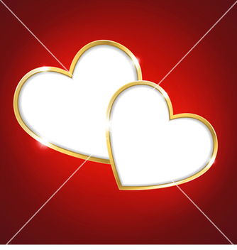 Free heart on a red background vector - vector gratuit(e) #238857