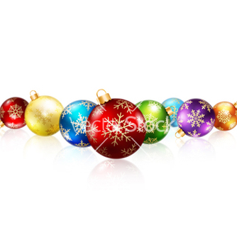 Free isolated christmas balls vector - Free vector #238987