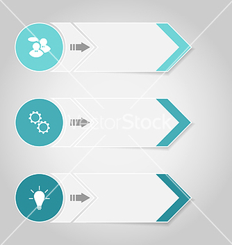 Free set modern design banners with infographics vector - Free vector #239077