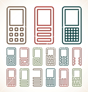 Free cell phone abstract icons vector - Free vector #239147